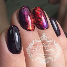 nail art transfer foil sticker, where can i buy nail foils, where to get nail foil, where to buy foil for nails Different Nail Designs, New Nail Designs, Colorful Nail Designs, Nail Polish, Nail Manicure, Cute Nails, Pretty Nails, Nail Designer, Instagram Nails