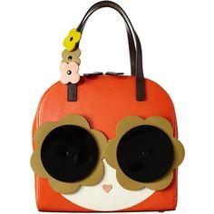 Applique Face Lola Bag ❤ liked on Polyvore featuring bags, handbags, orla kiely purse, genuine leather handbags, multicolor handbags, orla kiely handbags and multi color purse
