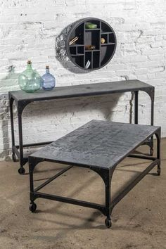 Vagabond Vintage Iron Console Table $395