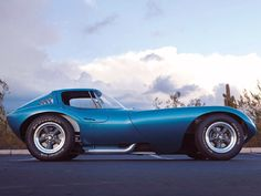 The Cheetah, A Chevy Small Block Powered 60's contender for the Shelby Cobra. A Cool Rocket Ship on four wheels.
