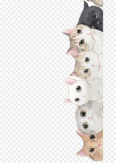 Gambar Kucing Lucu Kartun : gambar, kucing, kartun, Wallpaper, Kucing,, Gambar, Anjing,, Kucing, Putih