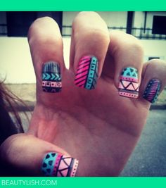 tribal nails  | Maria J.s Photo | Beautylish