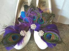 Check out this item in my Etsy shop https://www.etsy.com/listing/450786298/wedding-peacock-bridal-fascinator-and