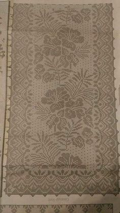 Thread Crochet, Crochet Doilies, Crochet Lace, Crochet Designs, Filet Crochet Charts, Crochet Table Runner, Christmas Cross, Chrochet, Rugs