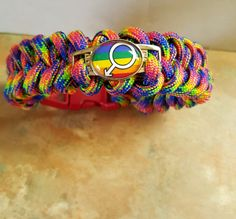 Cool Rainbow Paracord Bracelet by WolfMountainJewelry on Etsy  12.00