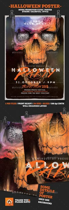 Halloween House Party Flyer Tempalte #design #printtemplate Download: http://graphicriver.net/item/halloween-house-party/12915221?ref=ksioks