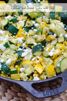 Zucchini and Sweet Corn with Feta - From Valerie's Kitchen