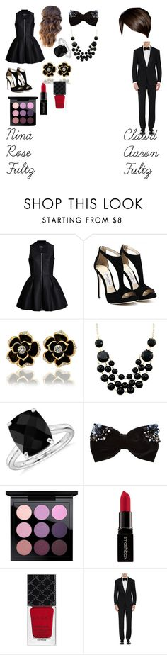"""""""Nina and Clawd Fultz"""" by emma0502 on Polyvore featuring Lavinia Cadar, Blue Nile, New Look, MAC Cosmetics, Smashbox, Gucci and Ralph Lauren Purple Label"""