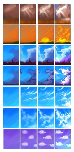Painting Tutorial Cloud Ideas For 2019 Digital Painting Tutorials, Digital Art Tutorial, Art Tutorials, Digital Paintings, Drawing Tutorials, Art Paintings, Painting Lessons, Art Lessons, Painting & Drawing