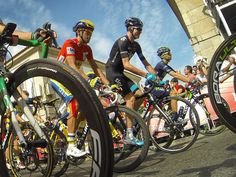 Vuelta a Espana stage 17 gallery Chris Froome chatted with Alberto Contador as the stage got underway