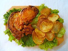 Padlizsán szezámos bundában A mai menünk egy igazi hagyományos, hirtelensült, szép, piros és ropogós étel lesz. A hozzávalók első hallásra talán nem a legmegszokottabbak, de az íz élmény garantáltan gyerekkorunkat idézi. Hozzávalók és recept: http://kertkonyha.blog.hu/2014/06/18/padlizsan_szezammagos_bundaban_869