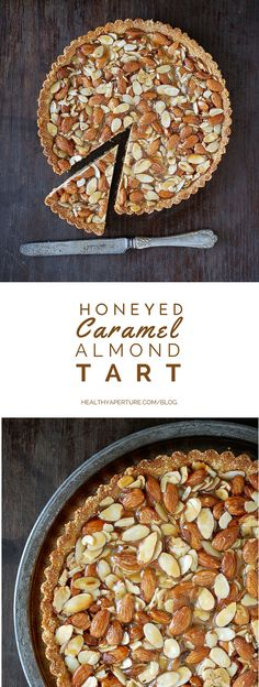 Break away from pecan pie this Thanksgiving. This Honeyed Caramel Almond Tart recipe is as easy to make as it is impressive. {ad}