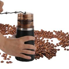 Amazon.com: Joymee Manual Coffee Grinder for Coffee Bean and Spices, Adjustable Hand Crank Portable Mini Coffee Mill Slim Grinder for Espresso: Kitchen & Dining
