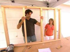 DIY Network's Carter Oosterhouse shows how to divide a large room with knee-wall partitions on DIYNetwork.com.