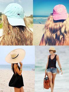 vari cappelli per fashion girl alla spiaggia 2014 estate