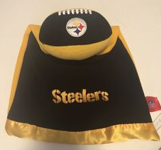 Pittsburgh Steelers Blanket Lovey Security Girls Boys Unisex Football Black  Gold  NFL ec31e56ac