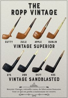 From the classic Vintage Sandblasts to the smooth-polished Vintage Superiors. Take a look and rediscover these classic French designs. On site now at Smokingpipes.com.