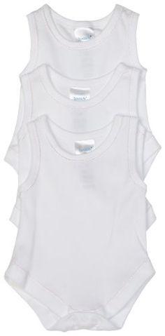 Spasilk 100\% Cotton Sleeveless Lap Shoulder 3-Pack Bodysuit
