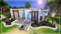Sims 4 Build, Celebrity Houses, Beach House, Make It Yourself, Mansions, House Styles, Celebrities, Building, Youtube