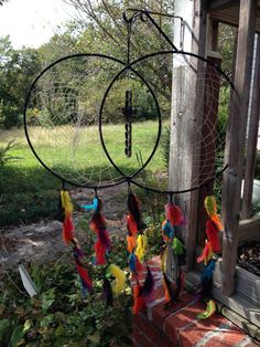 Large Multicolored Soul Dream Catcher by ZodiakDesigns on Etsy