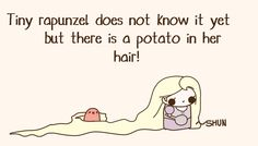 the Pohtato is Purrl Potato Funny, Cute Potato, Kawaii Potato, Cute Memes, Funny Cute, Funny Memes, Hilarious, Cute Comics, Funny Comics