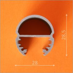 Kit profilés aluminium 2m ovale pour ruban de led