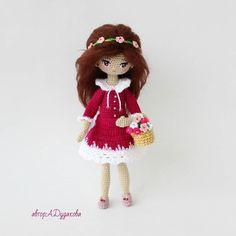 Amigurumi spring doll. (Inspiration).