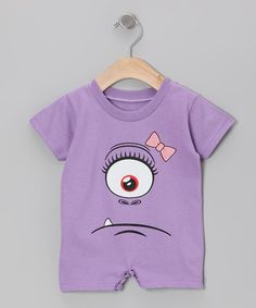 Take a look at this Purple Princess Miasma Romper - Infant by Airwaves on #zulily today!