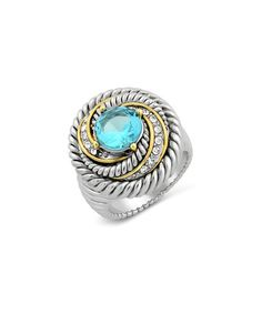 Look what I found on #zulily! Aqua Cubic Zirconia Textured Ring #zulilyfinds