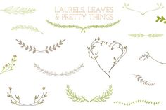Laurel Frames, Leaves, And Stems - Illustrations