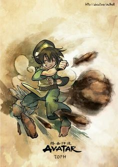 ATLA 30 day challenge: Day 2: Favourite member of Gaang - Toph. But seriously, I love all of them.