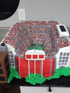 #groomscake #cakesatlanta #cakesmarietta #weddingcake #customcakes #atlantacustomcakes #mariettacustomcakes #confectionperfection #universityofgeorgia #ugacake #sanfordstadiumcake #sanfordstadium sculptedcake #3dcake #footballstadiumcake #footballcake