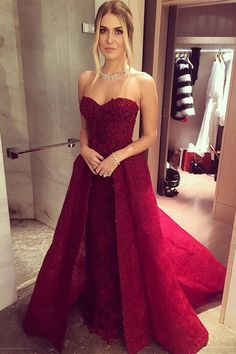 burgundy prom dresses,sweetheart prom resses,lace prom dresses,beaded prom gowns,2017 prom dresses @simpledress2480