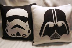 Garden flag. Star Wars Storm Trooper & Darth Vader Pillow by smashartstudio