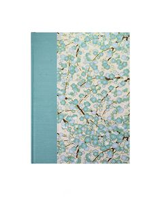 Recipe Book Blank Teal Plum Blossom by WolfiesBindery on Etsy