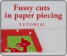 Fussy cuts in paper piecing   Projektownia Jednoiglec