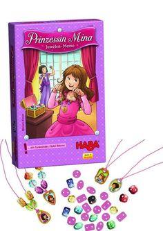 PRINCESA MINA: JUEGO DE MEMORIA DE JOYAS. Un resplandeciente juego de memoria y de ensartar para 2 - 4 princesas de 4 a 99 años.Autora: Miria