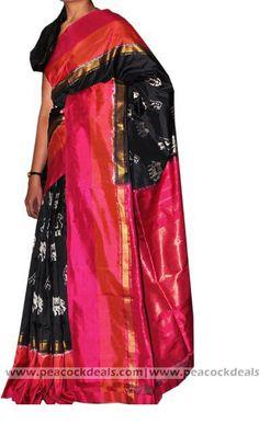 Pochampally Ikat Silk Saree-PIS137 :http://www.peacockdeals.com/product/pochampally-ikat-silk-saree-pis137/