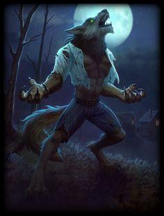 Wolf Man Skin card