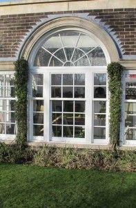 White uPVC sash windows with georgian detail #sashwindows