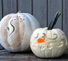Carving It Coastal -Jack O Lanterns with a Sea Theme at Completely Coastal.
