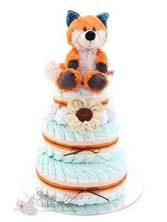 This must be the cutest fox toy EVER!! Have you seen the Fox Finolin 3 Tier Nappy Cake at Stacey Jane's Nappy Cakes? It's Ready to ship today!!