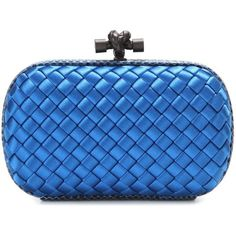 Bottega Veneta Knot Satin and Snakeskin Clutch (£1,185) ❤ liked on Polyvore featuring bags, handbags, clutches, blue, satin clutches, snake skin handbags, blue purse, bottega veneta purse and bottega veneta clutches