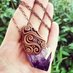 The Knowing - Grape Juice Purple Uruguay Amethyst Crystal Energy Pendant - Amplified Intuition & Psychic Awareness