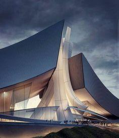 "ARCHITECTURE NOW: "" Crashing Waves Form4architecture South Korea…"" #organicarchitecture #futuristicarchitecture"
