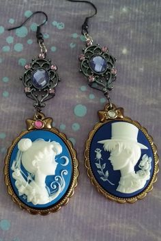 Sailor Moon and Tuxedo Mask dangle by AmberArtfulArtifacts on Etsy: