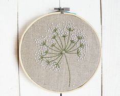 Floral embroidery hoop art Hand flower embroidery floral art