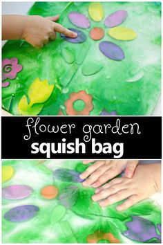 Spring Flower Sensory Squish Bag – Fantastic Fun & Learning Flower Garden Sensory Squish Bag-Spring theme fun for toddlers and preschoolers. Great for your preschool flower theme too! Toddlers And Preschoolers, Lesson Plans For Toddlers, Sensory Activities Toddlers, Spring Activities, Infant Activities, Sensory Bags, Spring For Preschoolers, Garden Ideas For Toddlers, Creative Activities For Toddlers