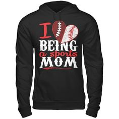 LIMITED EDITION - RP1517B Are you a sports mom?  This is the ULTIMATE sports mom hoodie or tee!!!  BRAND NEW design!  Only available for a LIMITED TIME!!!      If you're a football AND baseball mom, then THIS IS YOUR SHIRT!    Designed and printed in the USA