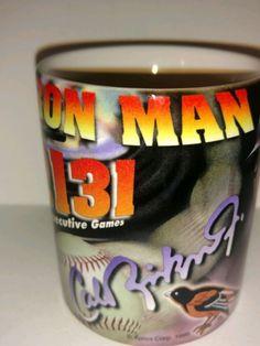 Authentic Cal Ripken jr. Iron Man Collectible Coffee Mug 2131 Consecutive Games